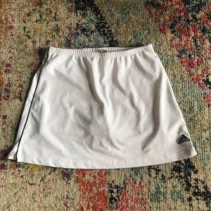 Adidas white tennis skirt
